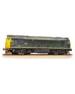 Bachmann 32-331 Class 25/1 25043 BR Green Full Yellow Ends Weathered