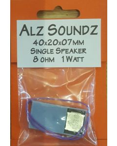 Alz Soundz AZS81MS1 8 ohm 1 watt speaker 40mm x 20mm x 7mm