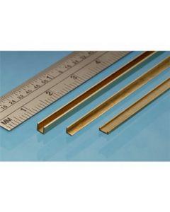 Albion Alloys UC3 Brass U Channel 2.5mm x 2.5mm x 2.5mm x 305mm
