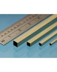Albion Alloys SSB1M Square Brass Tube 1.6mm x 1.6mm x 305mm