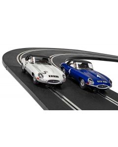 Scalextric C4062A Jaguar E-type First Race Win 1961 - Twin Pack - LIMITED EDITION
