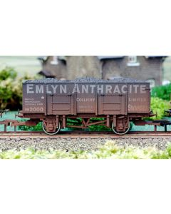 Dapol 4F-038-002 20t Steel Mineral Wagon Emlyn Anthracite Weathered