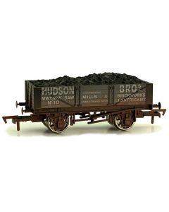 Dapol 4F-040-014 4 Plank Wagon Hudson Bros Weathered