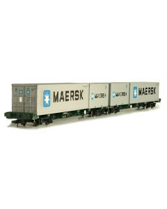 Dapol 4F-044-004 FEA-B Spine Container Wagon Freightliner 640011/012