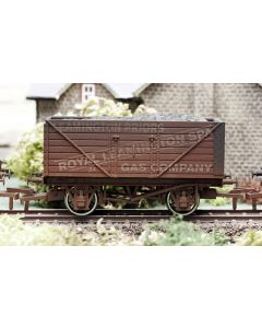 Dapol 4F-080-004 8 Plank Wagon Leamington Gas Weathered