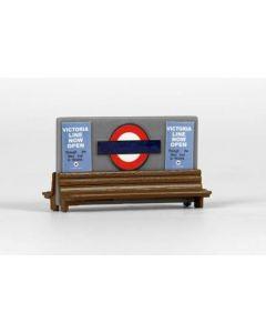 EFE E99622 London Underground Station Seats (Pre-built)