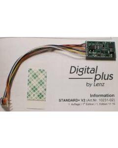 Lenz 10231 Standard+ V2 8 Pin Decoder