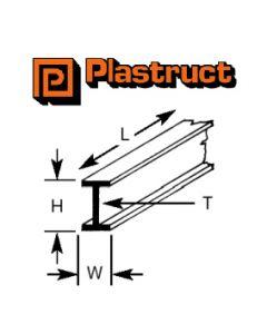 Plastruct 90520 PBFS-16 12.7 x 6.4 x 375mm BEAM (4)