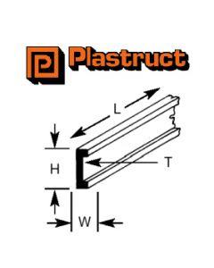 Plastruct 90532 PCFS-3 2.4 x 1.0 x 250mm CHANNEL (10)