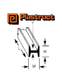Plastruct 90542 PHFS-3 2.4 x 2.4 x 375mm H SECTION (10)