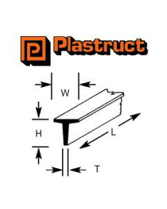 Plastruct 90562 PTFS-2 1.6mm T SECTION (10)