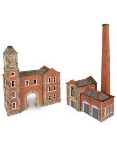 METCALFE PN184 N Scale Boilerhouse & Factory Entrance