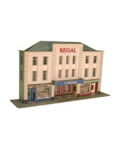 METCALFE PO206 OO/HO Low Relief Cinema & Shops
