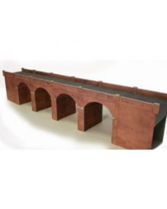 METCALFE PO240 00/H0 Double Track Red Brick Viaduct