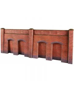 METCALFE PO244 OO/HO Scale Retaining Walls Red Brick Style