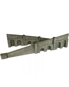 METCALFE PO249 OO/HO Scale Tapered Retaining Walls in Stone