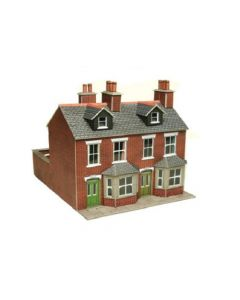 METCALFE PO261 00/H0 Terraced Houses in Red Brick