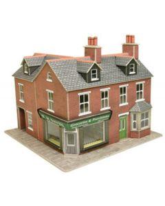METCALFE PO263 00/H0 Corner Shop Red Brick
