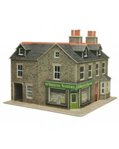 METCALFE PO264 00/H0 Corner Shop In Stone