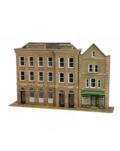 METCALFE PO271 00/H0 Low Relief Bank & Shop