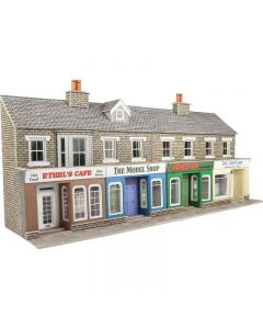 METCALFE PO273 00/H0 Low Relief Stone Shop Fronts