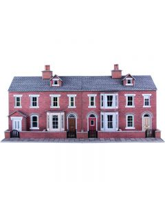 METCALFE PO274 00/H0 Low Relief Red Brick Terraced House Fronts