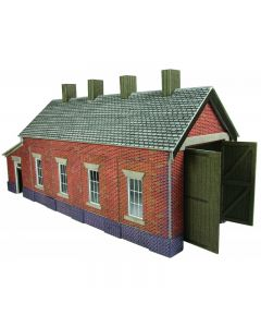 METCALFE PO331 00/H0 Red Brick Single Track Engine Shed