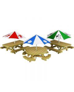 METCALFE PO510 00/H0 Scale Picnic Tables