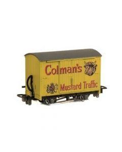 Peco GR-900 4 Wheel Closed Goods Van 'Colman's Mustard'