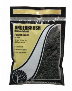 Woodland Scenics WFC138 Dark Green Underbrush (Bag)