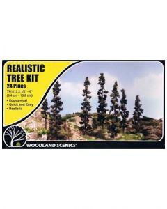 "Woodland Scenics WTR1113 2½""−6""Forest Green Trees (24/Kit)"