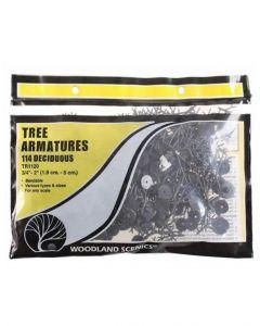 "Woodland Scenics WTR1120 ¾""−2"" Tree Armatures"