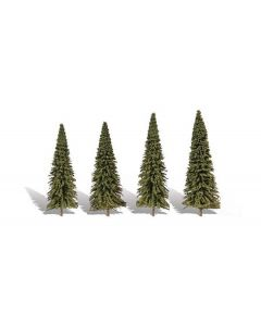 "Woodland Scenics WTR3568  3 ½""−5½"" Classic Forever Green (4/Pk)"